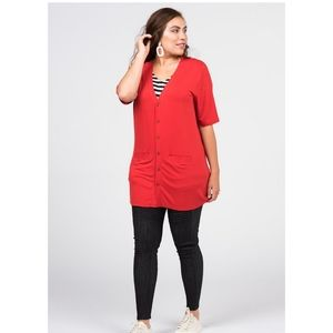 🎄XS S. XXL Red CARDIGAN 🎄NWT BY A&D